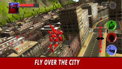 Flying Robot Simulator 3D Full screenshot 4