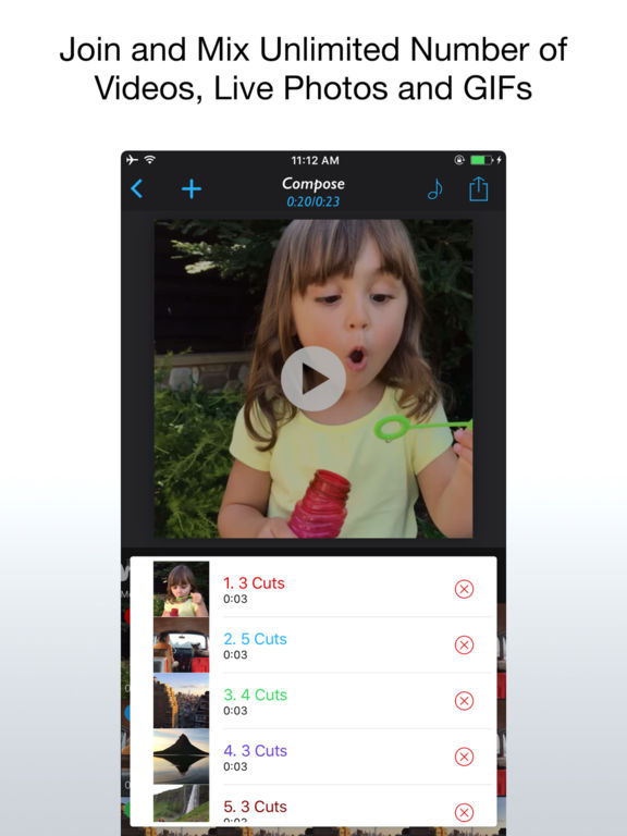 Live Mix - Join and Mix Live Photos, Videos, GIFs Screenshots