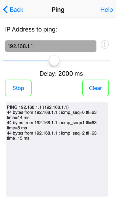 Network Ping Lite iPhone Screenshot 2