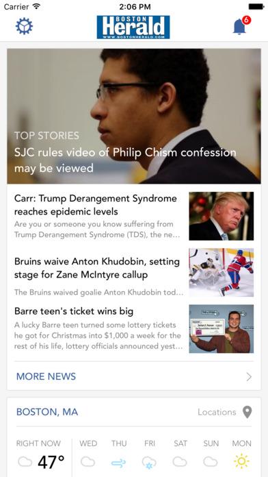 Boston Herald iPhone Screenshot 1