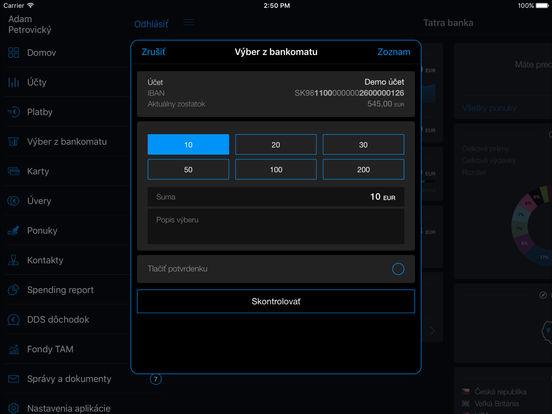 Tatra banka iPad Screenshot 5