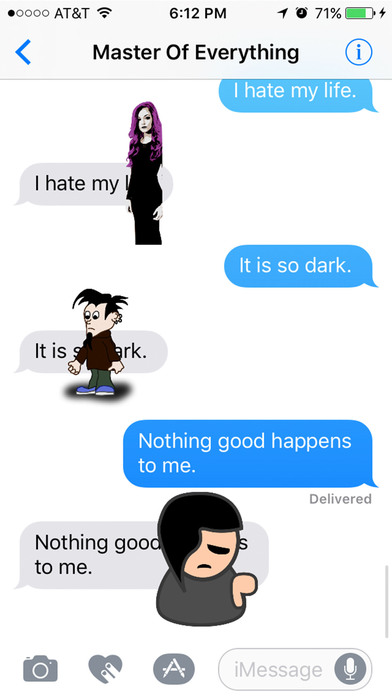 Depressing Emo & Gothic Stickers: The Same Thing screenshot 1