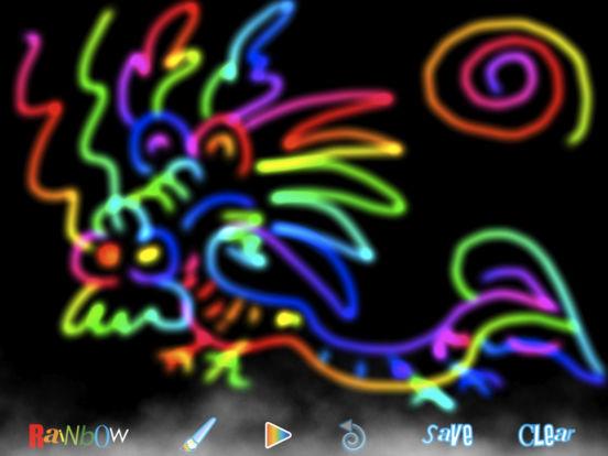 RainbowDoodle - Animated rainbow glow effect iPad Screenshot 2