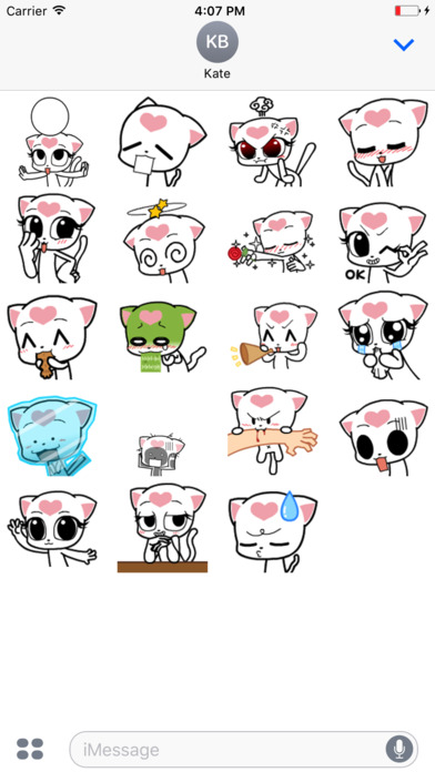 Miloo Cat - Animated Stickers And Emoticons screenshot 2