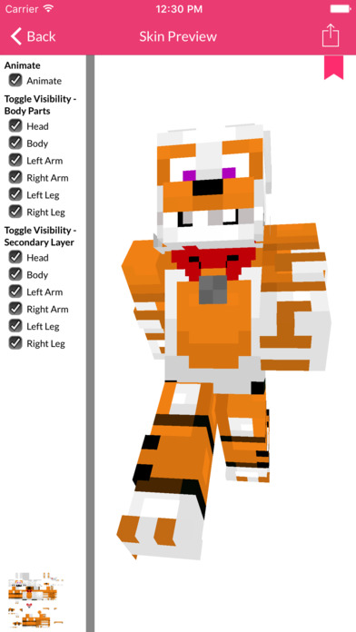 FNAF Skins For Minecraft Edition Apps free for iPhone/iPad screenshot
