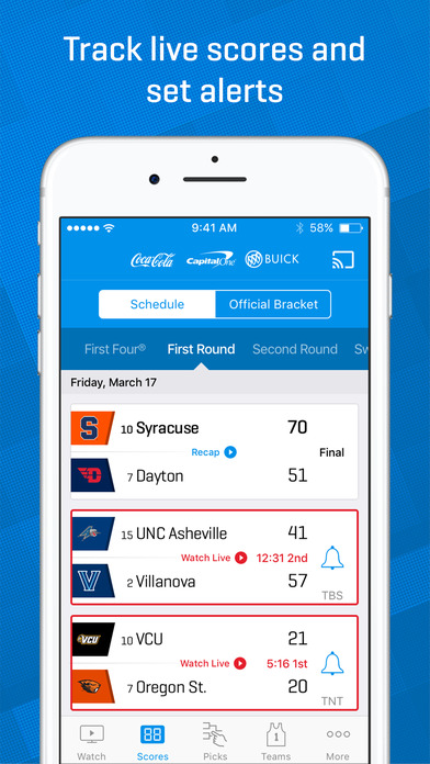 NCAA March Madness Live - Men's College Basketball Screenshots