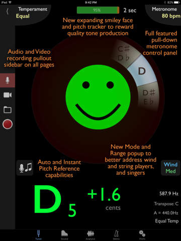 TonalEnergy Chromatic Tuner and Metronome screenshot 1