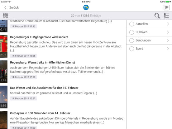 TVA Ostbayern iPad Screenshot 4