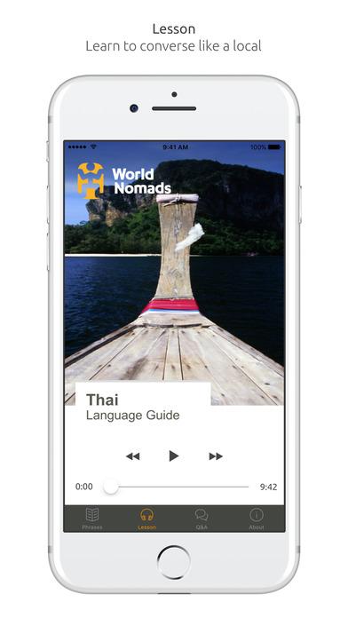 World Nomads Thai Language Guide iPhone Screenshot 3