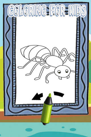 Ant Man Coloring Page Paint Games For Kids screenshot 1