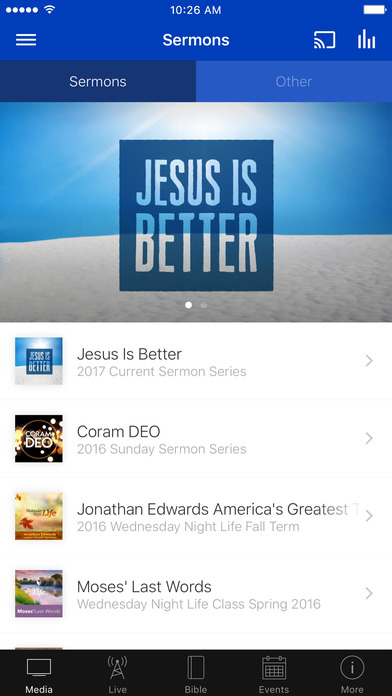 Hunter Street Baptist Church iPhone Screenshot 1