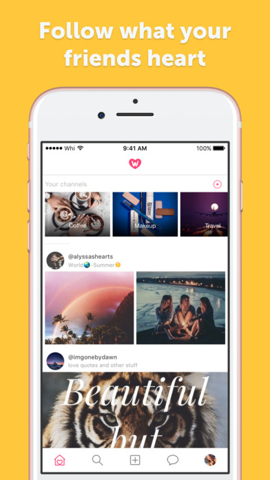 Screenshots of We Heart It for iPhone