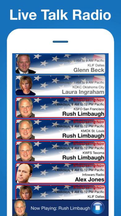 Conservative Talk Radio Screenshot