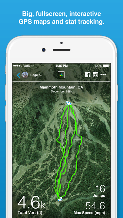 AlpineReplay Ski & Snowboard iPhone Screenshot 2