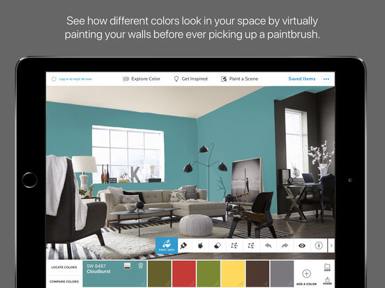 Colorsnap visualizer for ipad on the app store for Paint your own room visualizer