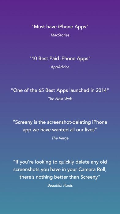 Screeny - Delete Screenshots Easily Screenshot