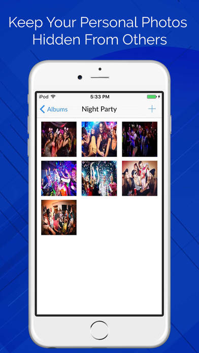 App Lock with Finger Password - Hide Photos Apps free for iPhone/iPad screenshot