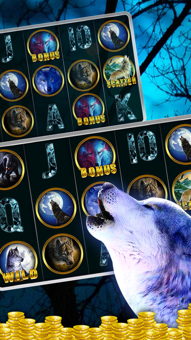Screenshot 3 Slots: Wolf Casino — Run Wolf Moon Slots Casino
