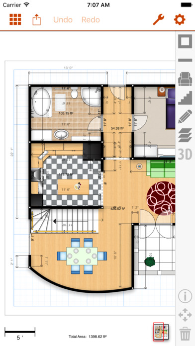 Floor plans app home design inspiration architouch 3d for Floor plan design app