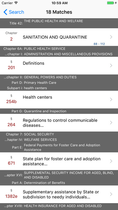 The Public Health and Welfare (Title 42 United States Code) iPhone Screenshot 5