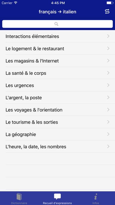 Coffret Linguistique français-italien Accio iPhone Screenshot 2