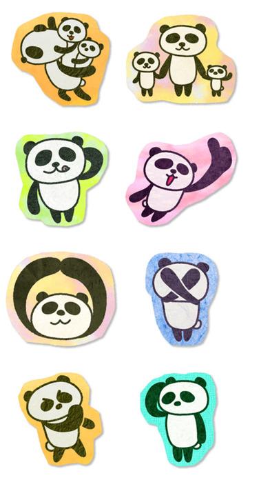 Paper Panda Stickers iPhone Screenshot 5