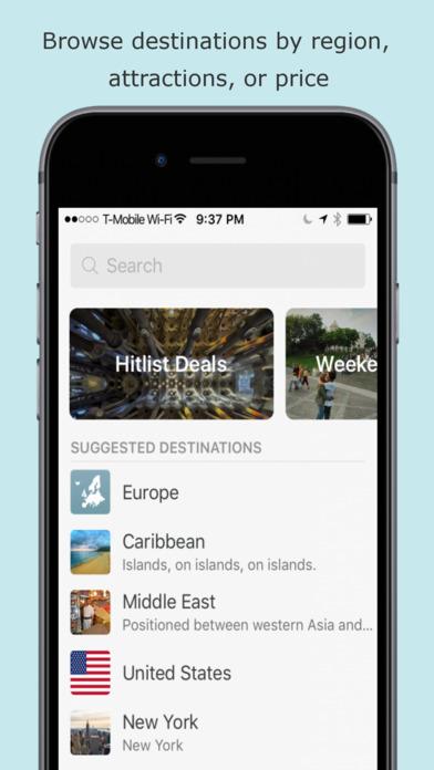 Hitlist - Cheap Flights, Travel Deals and Airline Tickets screenshot 4