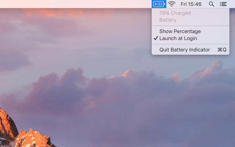 Battery Indicator for Mac