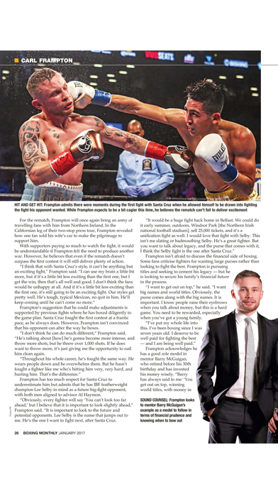Boxing Monthly Magazine iPhone Screenshot 5