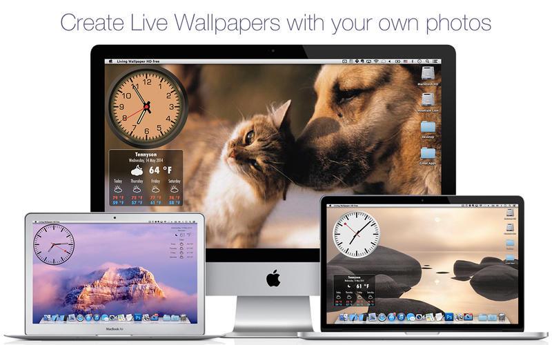 Screenshot #2 for Live Wallpaper HD+: desktop weather & screensaver