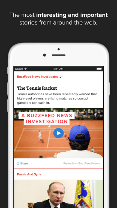 BuzzFeed News screenshot 1