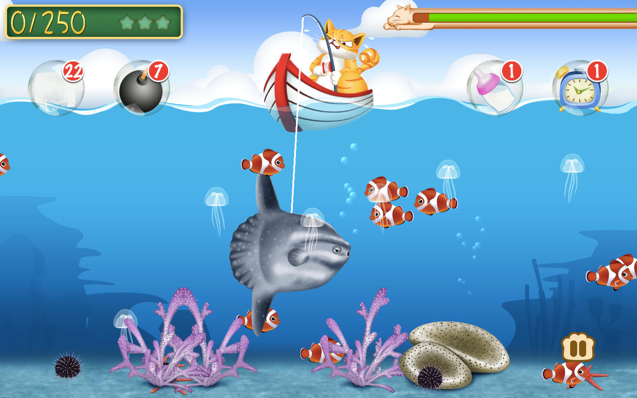 App shopper fishing cat meow games for Fish game for cats