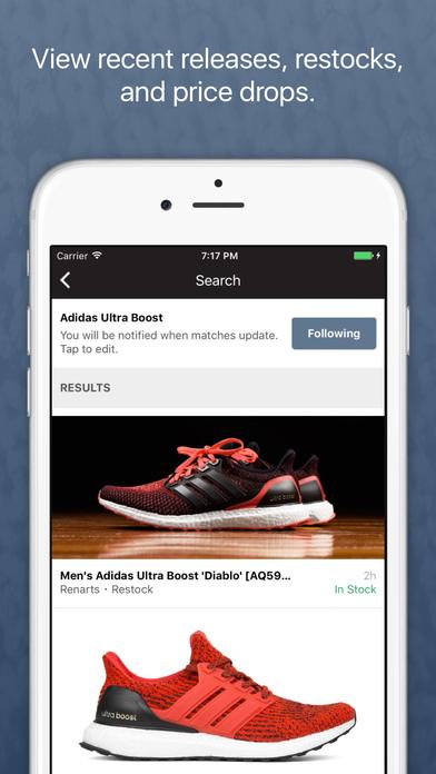 Restocks: Sneaker + Streetwear Alerts app image