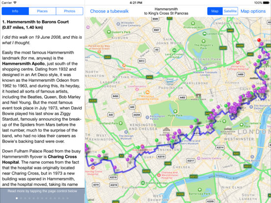Tubewalker for iPad iPad Screenshot 2
