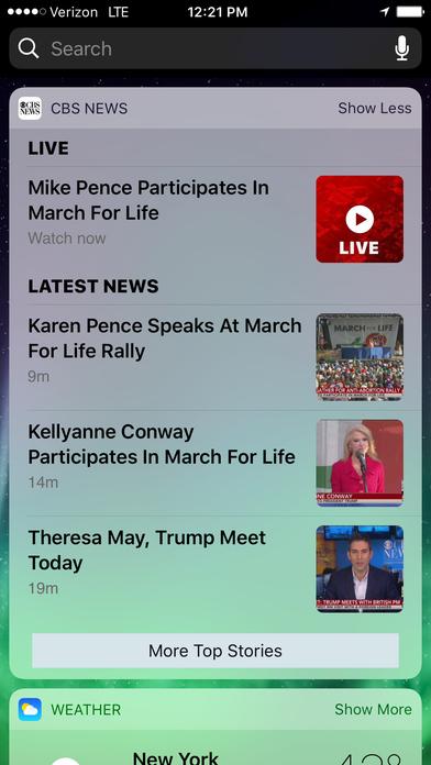 CBS News iPhone Screenshot 1