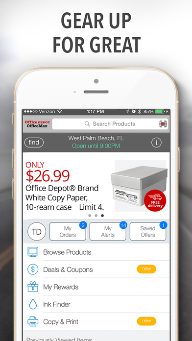 Office Depot® iPhone Screenshot 1