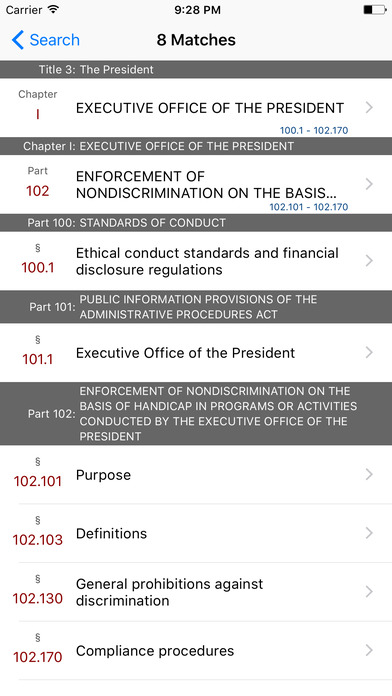 Title 3 Code of Federal Regulations - The President iPhone Screenshot 5