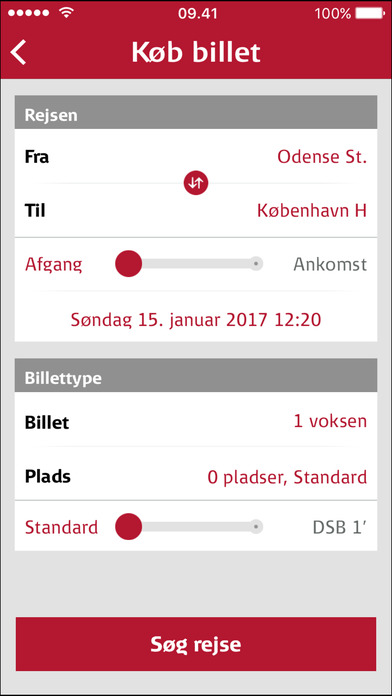 DSB Billet iPhone Screenshot 2