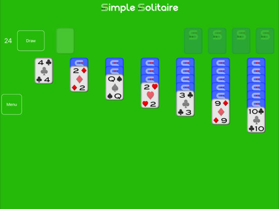 Simple Solitaire Free iPad Screenshot 1