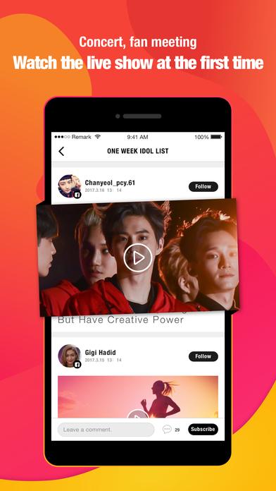 TanQu-Idol News & Concert Live Video iPhone Screenshot 4