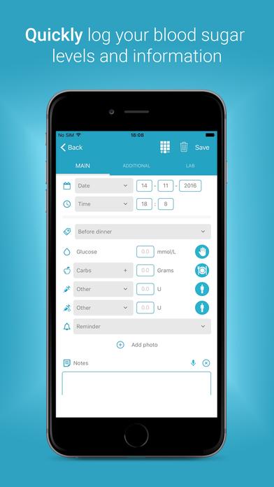 Diabetes:M Apps free for iPhone/iPad screenshot