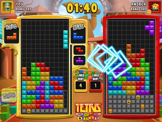 Tetris Battle Drop Screenshot