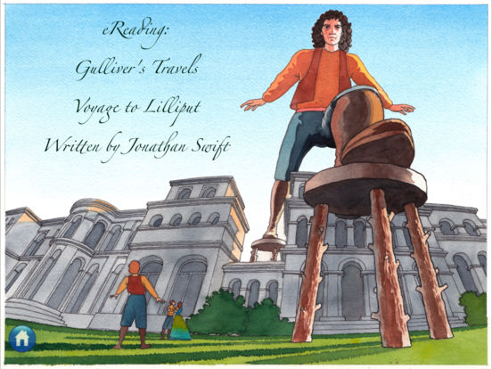 eReading: Gulliver's Travels, Lilliput iPad Screenshot 1