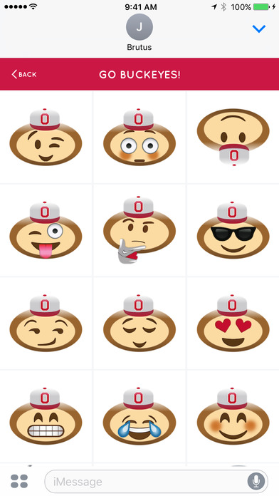 Ohio State Emojis iPhone Screenshot 3