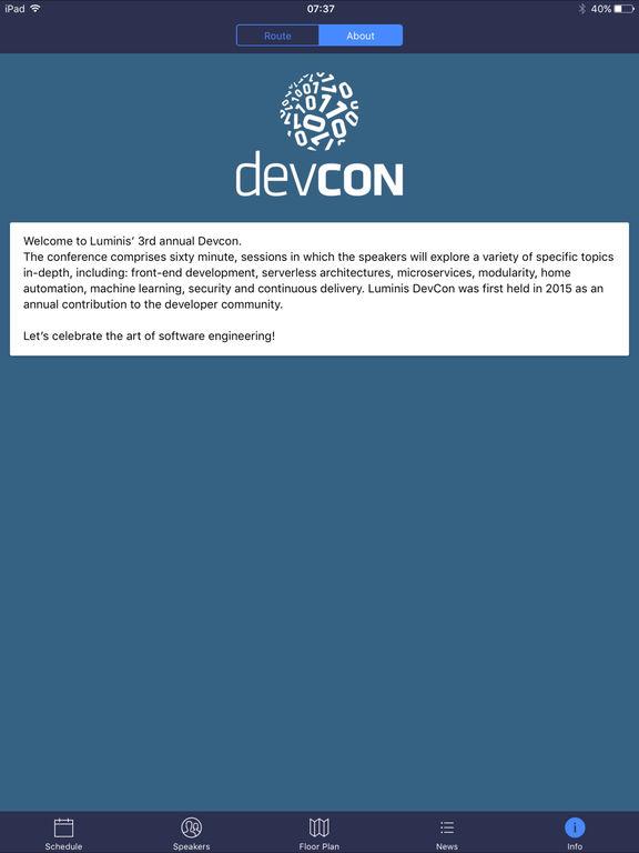 Screenshot #5 for Luminis DevCon