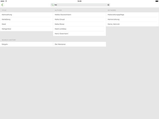 Onleihe iPad Screenshot 5