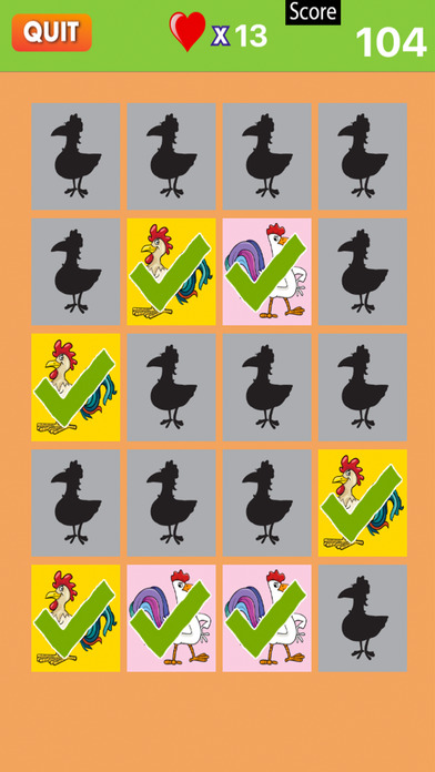 Chicken With Matching Puzzle for Little Kids screenshot 2