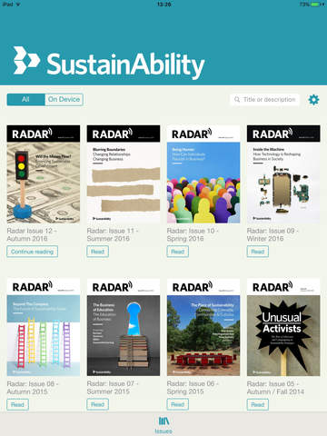 Screenshot of Radar Magazine