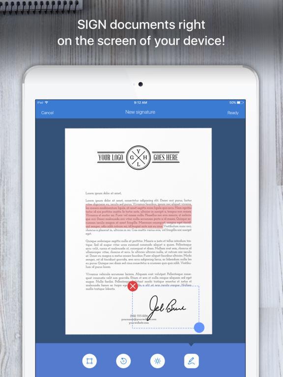 Screenshot #2 for Scanner App - PDF Scanner OCR & Document Printer
