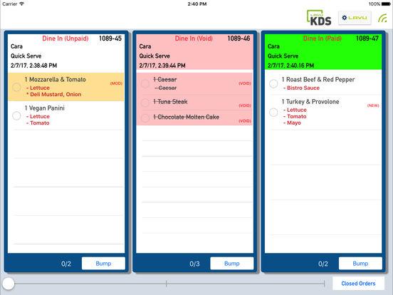 Restaurant Kitchen Order Display lavu kds | kitchen order display on the app store